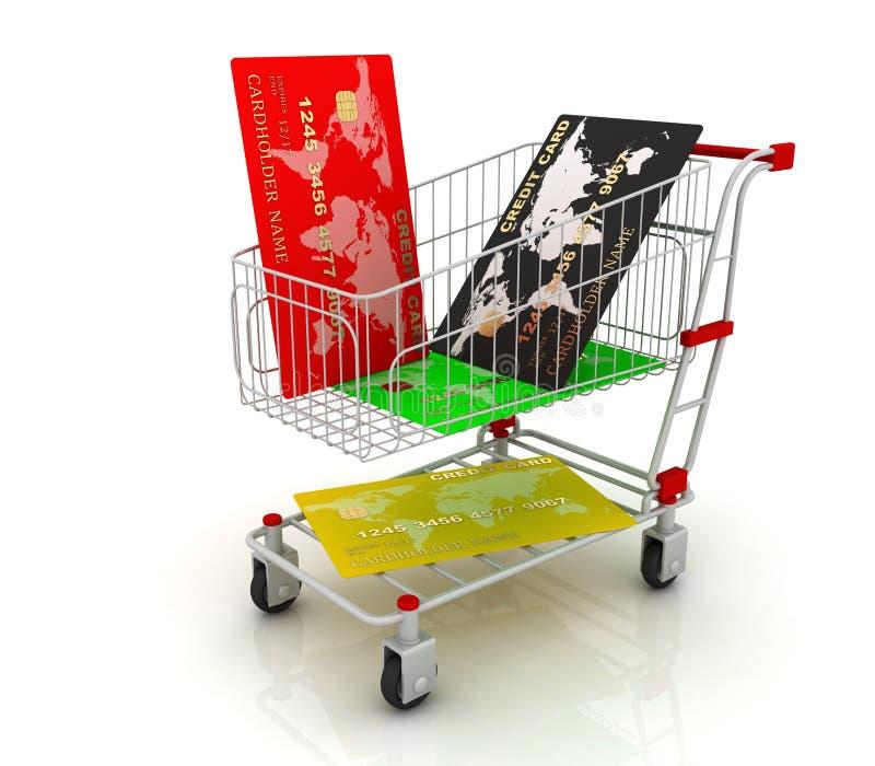 Carro de compra ilustração royalty free