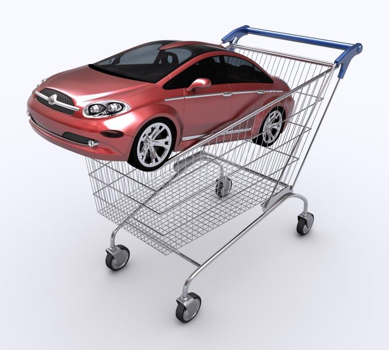 Carro de compra (carro de compra) ilustração royalty free