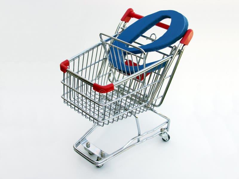 Carro de compra do comércio electrónico (vista superior) foto de stock royalty free