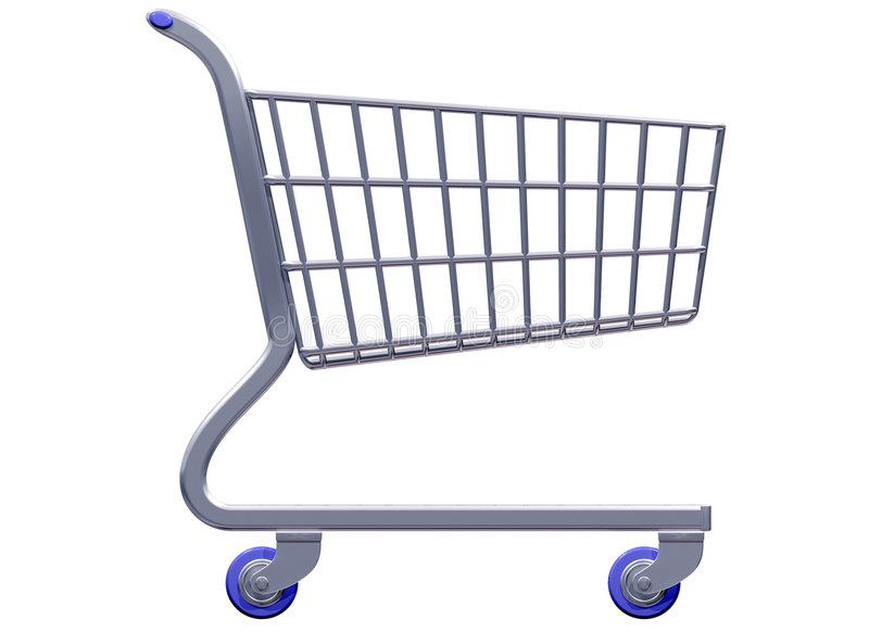 Carro de compra estilizado ilustração do vetor