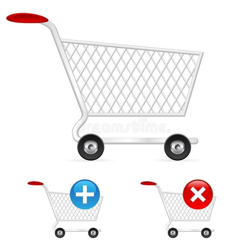 Carro de compra vazio ilustração stock