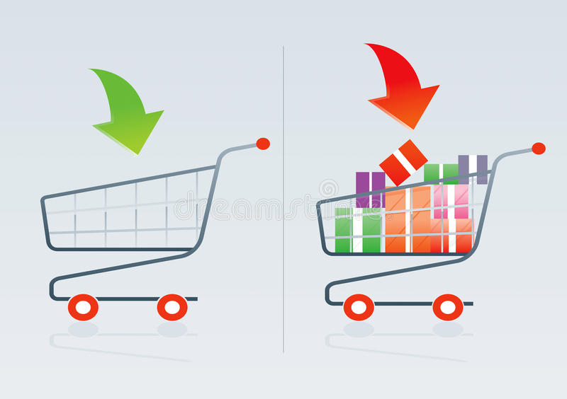 Carro de compras 1 ilustración del vector