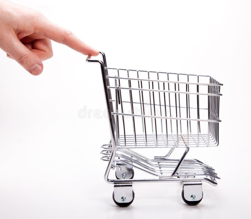 Carro de compras foto de archivo libre de regalías