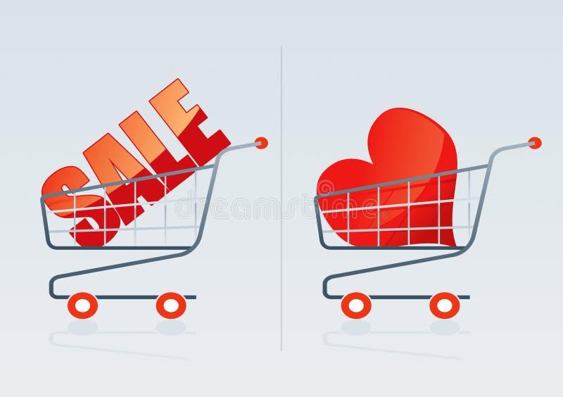 Carro de compras 3 ilustración del vector