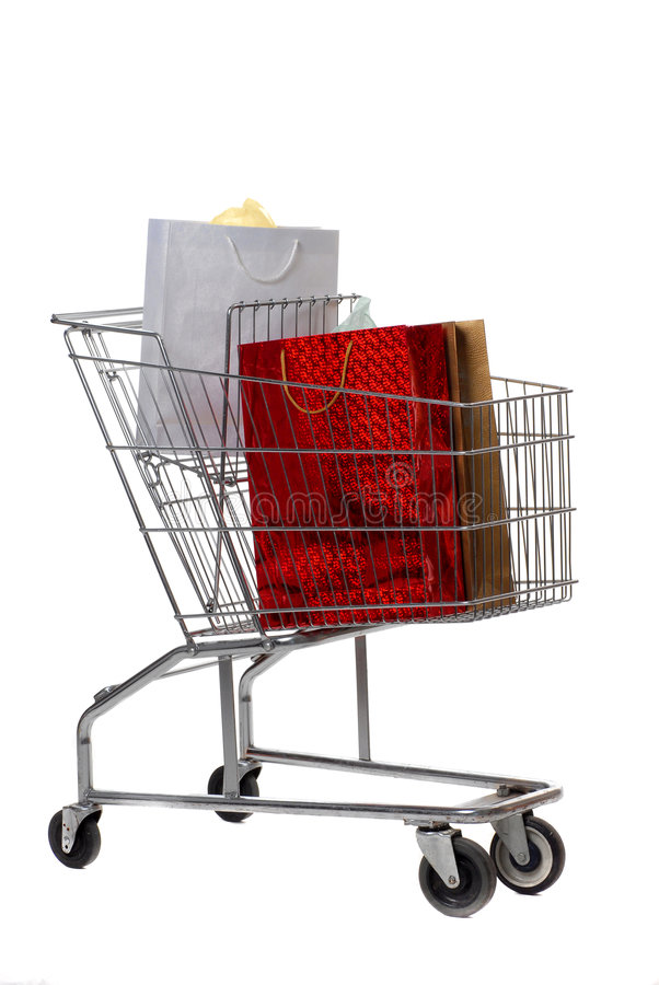 Download Carro de compras foto de archivo. Imagen de navidad, ruedas - 7151258