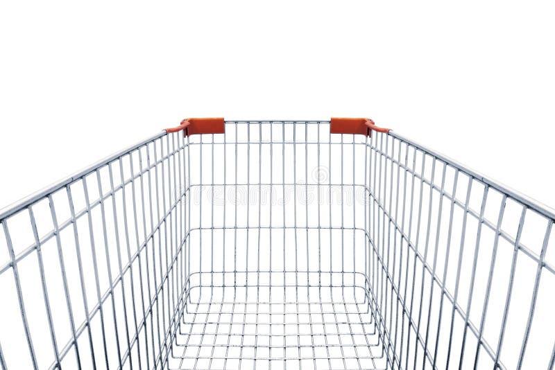 Carro de compras aislado en blanco foto de archivo