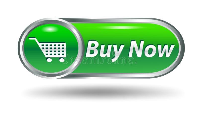 Carro de compras, botón del icono de la compra stock de ilustración