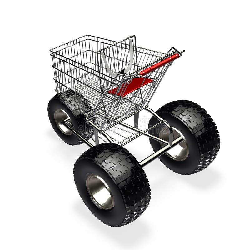 Carro de compras de la velocidad de Turbo stock de ilustración