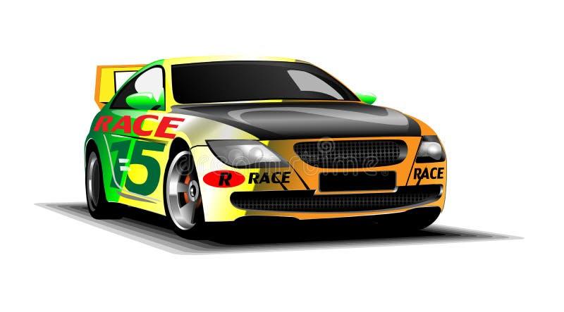 Carro de corridas colorido vetor do esporte de Digitas ilustração stock