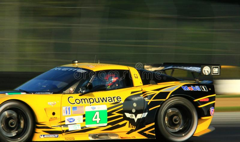 Carro de corridas de Chevy Corvette C6 ZR1 fotos de stock royalty free