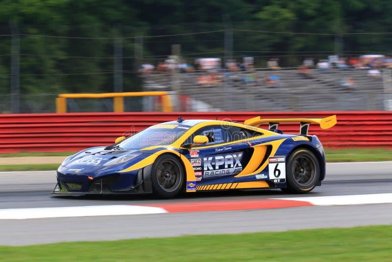 Carro de corridas de McLaren foto de stock