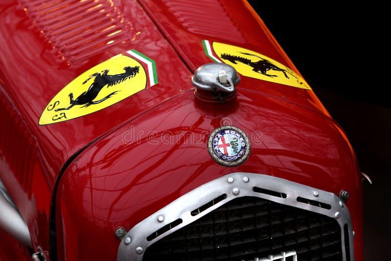 Carro de corridas de Romeo Tipo B P3 do alfa de Ferrari fotografia de stock royalty free