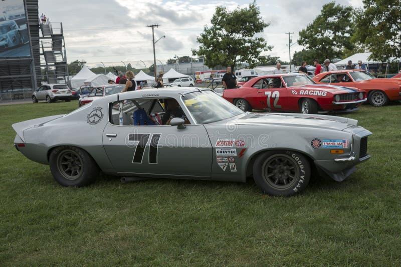 Carro de corridas do camaro do vintage imagem de stock