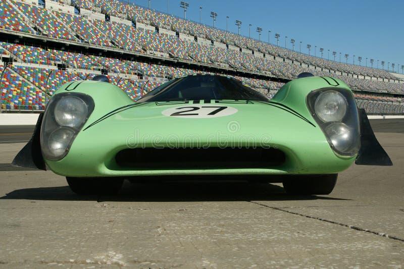 Carro de corridas 1969 do cupê de Lola T70 Mark 3b fotografia de stock