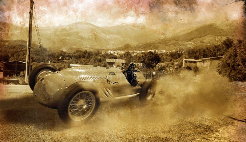 Carro de corridas do vintage imagem de stock