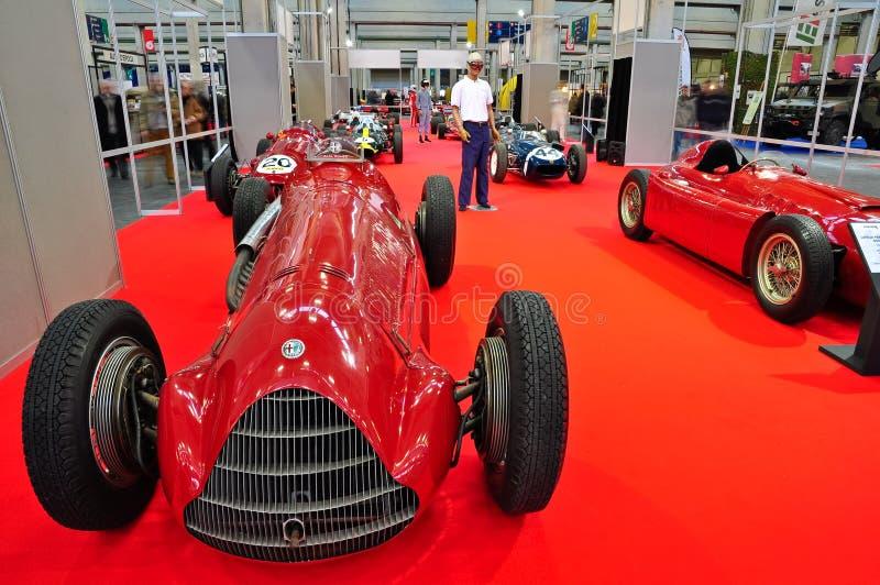 Carro de corridas do vintage de Alfa Romeo foto de stock