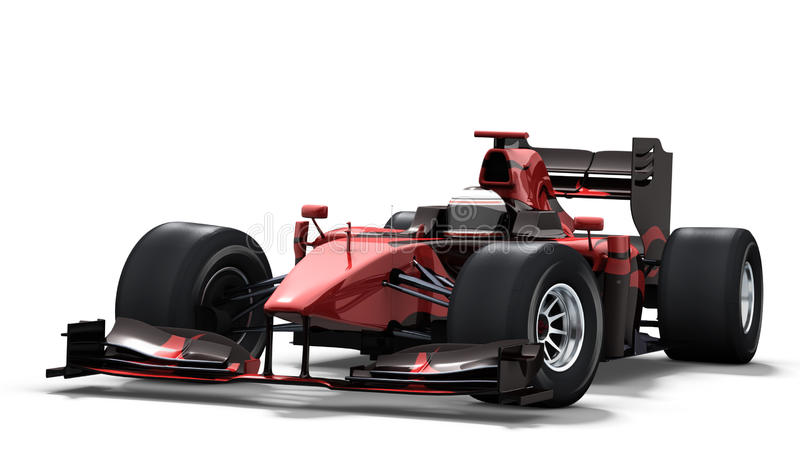 Carro de corridas no branco - preto & vermelho ilustração stock