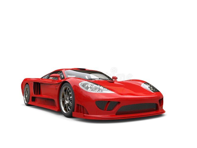 Carro de corridas super moderno vermelho impetuoso ilustração royalty free