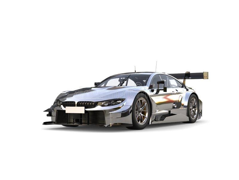Carro de corridas super de prata moderno impressionante ilustração do vetor