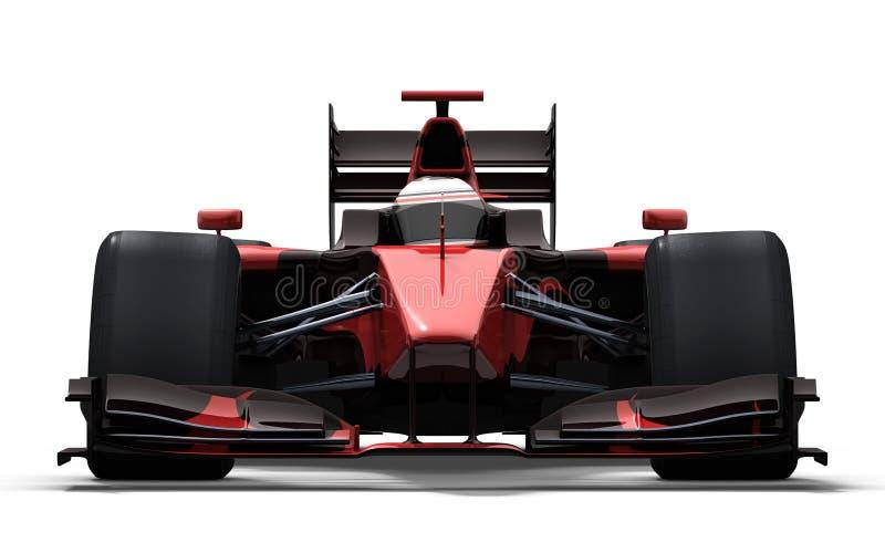 Carro de corridas - vermelho e preto ilustração stock