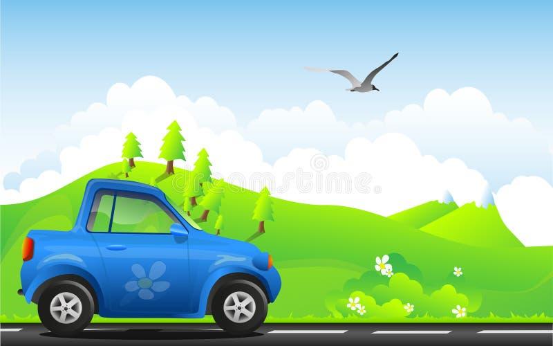 Carro de Eco ilustração royalty free