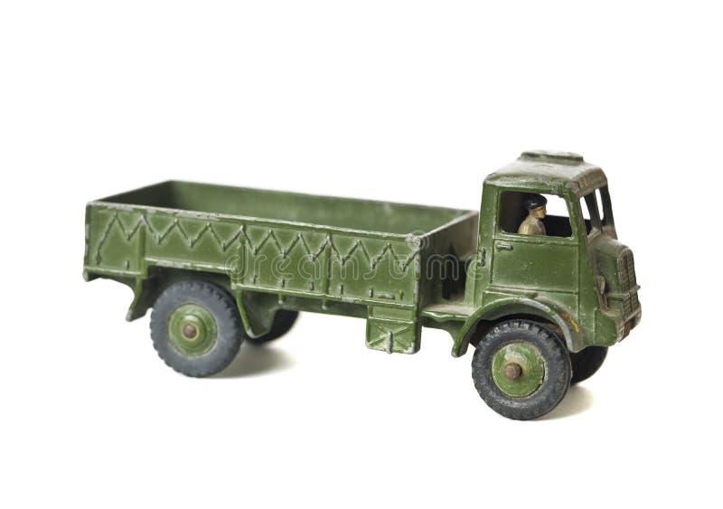 Carro de ejército del juguete fotografía de archivo