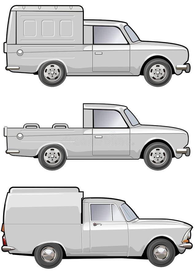 Carro de entrega das modificações ilustração stock