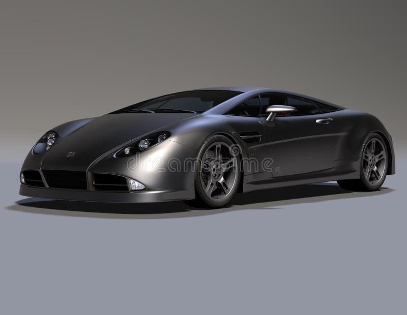 Carro de esportes 2 do coupé da GT ilustração do vetor