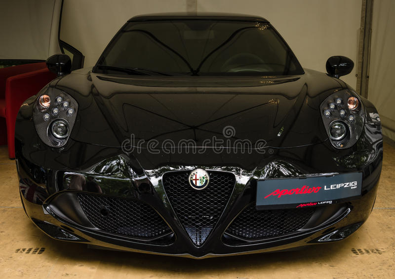 Carro de esportes Alfa Romeo 4C (desde 2014) imagens de stock royalty free