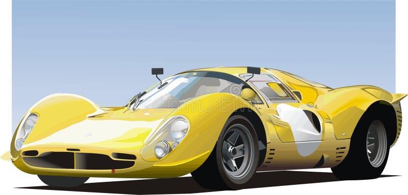 Carro de esportes amarelo ilustração stock