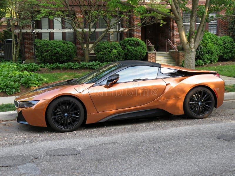 Carro de esportes bonito de Brown BMW imagens de stock royalty free