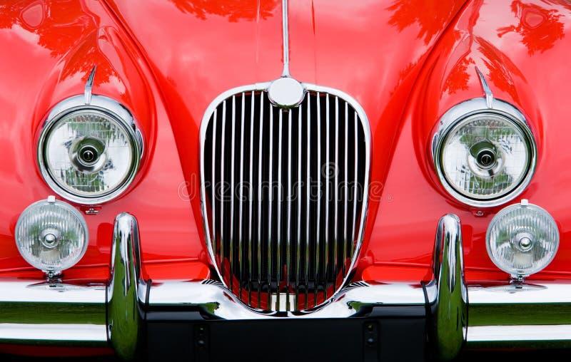 Carro de esportes clássico vermelho fotografia de stock