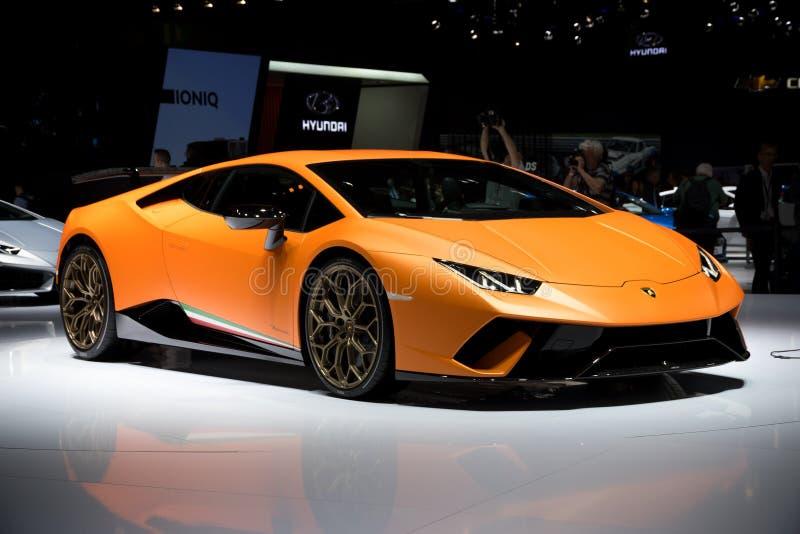 Carro de esportes de Lamborghini Huracan Performante fotografia de stock