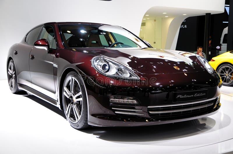 Carro de esportes de Porsche Panamera (edição da platina) fotografia de stock royalty free