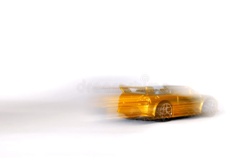 Carro de esportes de pressa fotografia de stock