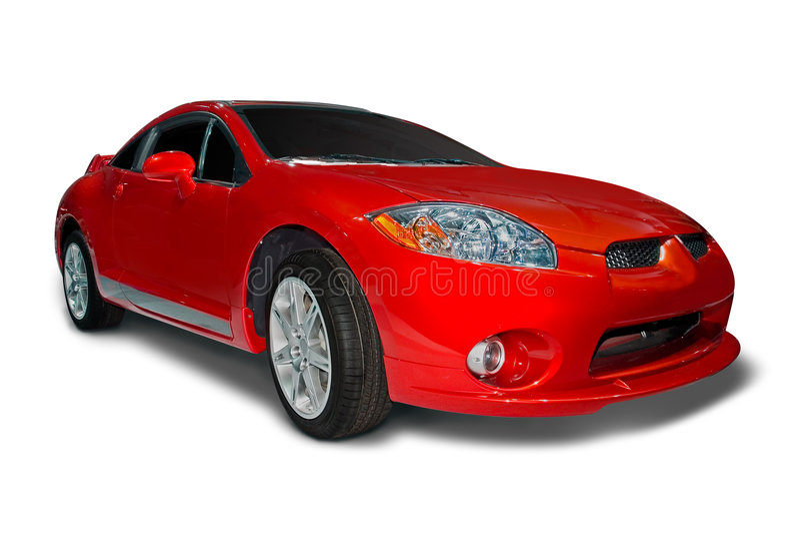 Carro de esportes do eclipse de Mitsubishi imagens de stock