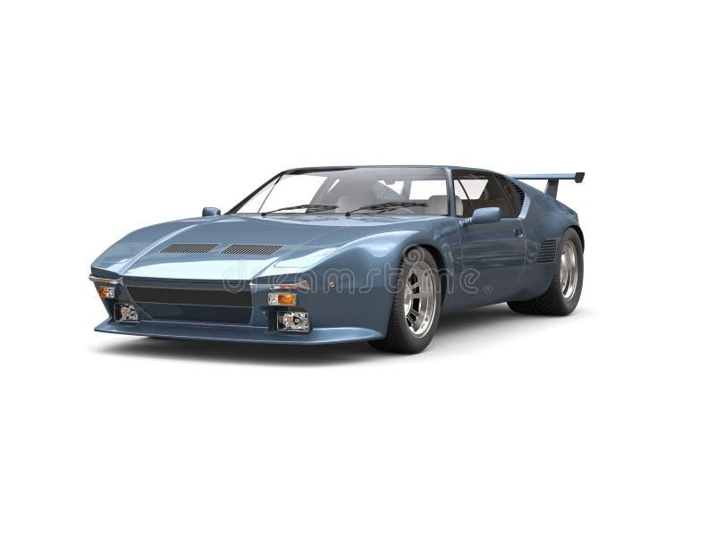 Carro de esportes dos anos 80 do azul de aço ilustração royalty free