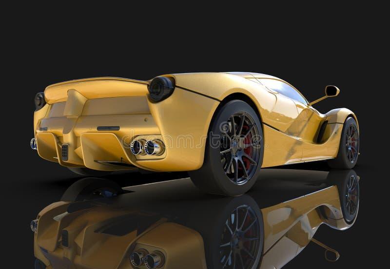 Carro de esportes E ilustração 3D ilustração do vetor
