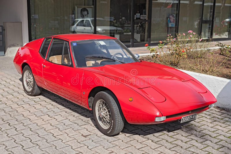 Carro de esportes Fiat do vintage 850 Prix grande Francis Lombardi fotos de stock royalty free