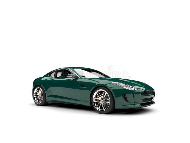 Carro de esportes moderno do conceito do verde floresta escuro ilustração royalty free