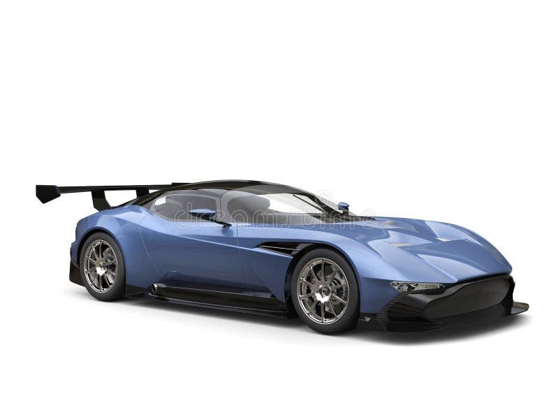 Carro de esportes moderno leve do azul de aço ilustração royalty free