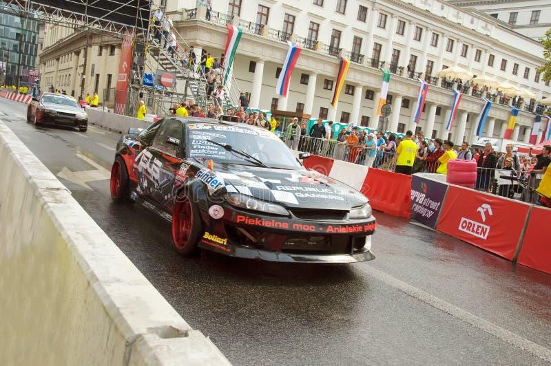Carro de esportes na rua de Verva que compete 2011 imagens de stock royalty free