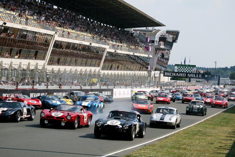 Carro de esportes, raça 24h clássica de Le Mans imagens de stock