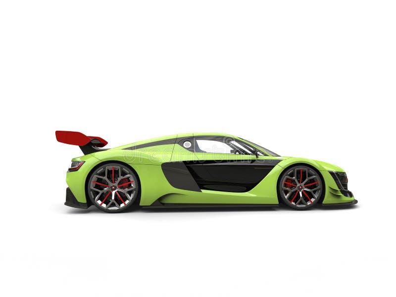 Carro de esportes super do verde-lima com desmancha prazeres vermelha ilustração royalty free