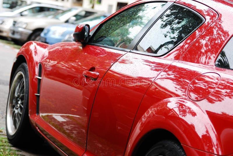 Carro de esportes vermelho foto de stock