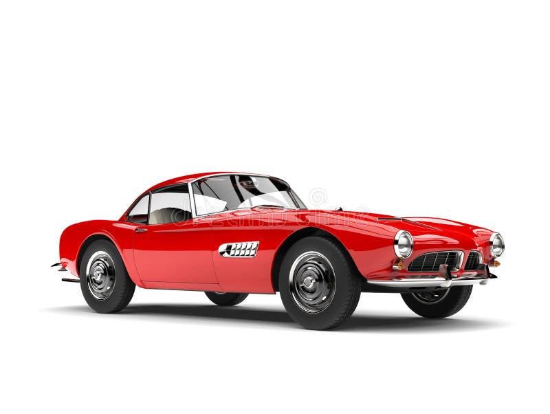 Carro de esportes vermelho do vintage do fogo ilustração stock