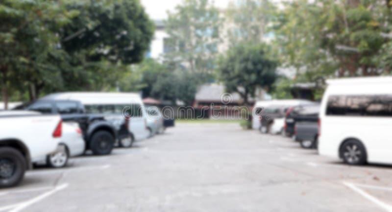 Carro de estacionamento borrado sumário exterior imagens de stock royalty free