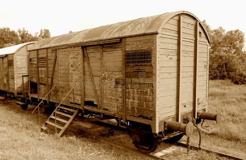Carro de estrada de ferro envelhecido fotos de stock royalty free