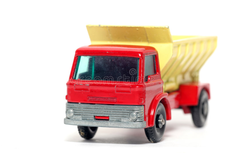 Carro de extensión #2 del juguete de la arena vieja del coche imagenes de archivo