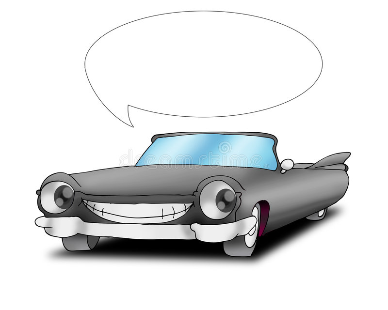 Carro de fala de cadillac ilustração do vetor